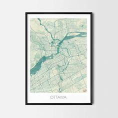 CityArtPosters.com  Ottawa art posters - City Art Map Posters and Prints