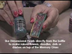 how to make a quick and easy holiday pin using Melt Art® Ultra Thick Embossing Enamel and Inkssentials™ Memory Glass and Frames.