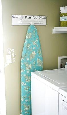 ironing board hanger by carlene
