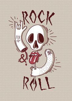 Rock & Roll by Filip Greš, via Behance