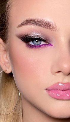 Purple Eye Makeup, Makeup Eye Looks, Dope Makeup, Beautiful Eye Makeup, Eye Makeup Art, No Eyeliner Makeup, Smokey Eye Makeup, Makeup Inspo, Makeup Inspiration