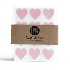 Ruby Rabbit Partyware - Pale Pink Heart Sticker Seals