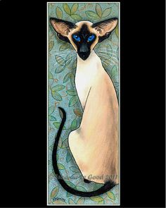 LARGE SIAMESE CAT Limited Edition print  by Suzanne Le Good. $15.00, via Etsy.