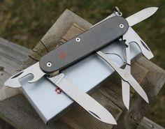 SAKModder Custom Victorinox Titanium Super Tinker Swiss Army Knife Mod