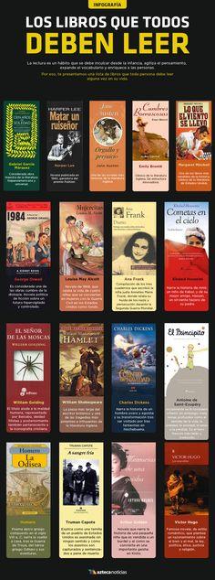 Los libros que todos deben leer #infografia