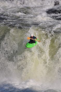 Kayak Ohiopyle falls, class 5 kayaking fun.  This is Wilderness Voyageurs operations manager stomping the drop.  Gotta love living in a town with a waterfall in the middle of it.  www.wilderness-voyageurs.com #ohiopyle #class5