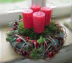 adventskranz wintertraum bordeaux advent weihnachten. Black Bedroom Furniture Sets. Home Design Ideas