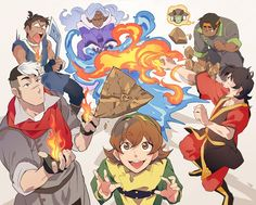 AVATAR AND VOLTRON CROSSOVER!!!!Cred: IDK BUT THIS LOOKS FABULOUS WHOEVER YOU ARE Edit:found it, it's avakoratron on Twitter