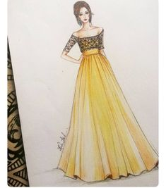 Fashion design sketches 631137335261500090 - Mode Source by Dress Design Drawing, Dress Design Sketches, Fashion Design Sketchbook, Fashion Design Drawings, Dress Drawing, Fashion Sketches, Dress Designs, Fashion Drawing Dresses, Fashion Illustration Dresses
