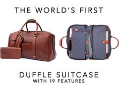 The World's First Duffle Suitcase: Premium Bag | 19 Features by Wool & Oak —Kickstarter