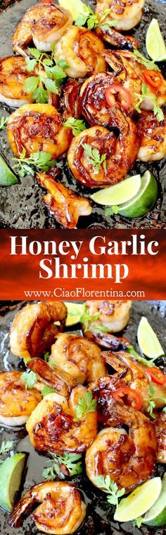 Honey Garlic Shrimp Recipe | CiaoFlorentina.com @CiaoFlorentina