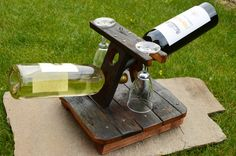 Wooden Wine Rack Oak wood wine rack Solid wood by PenoffCrafts, $120.00