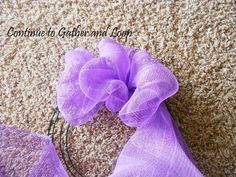 DIY Spring Burton & Burton Tulle Ribbon Wreath - Outnumbered 3 to 1