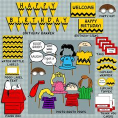 The Peanuts Theme Birthday Party Pack Digital by EasyPartyPeople