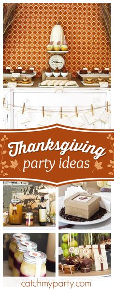 check out this gorgeous rustic fall thanksgiving party the tabel settings are incredible