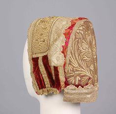 Hat / Date: 19th century Culture: Russian Medium: Silk, metallic, glass, pearl