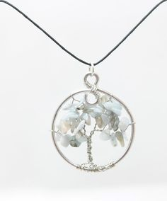 Natural Aquamarine Tree of Life Necklace by SweetfireCreations Artistic Wire, Tree Of Life Necklace, Birthday Month, Suncatchers, Make You Smile, Birthstones, Etsy Shop, Pendant Necklace, Chain