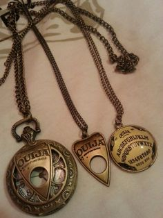 Oujia board necklaces.