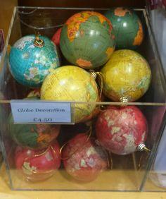 Globe bauble decorations - museum shop