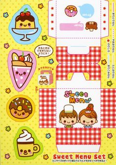kawaii cut cards