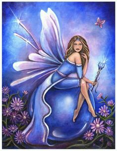 Fantasy Art: Fairies, Artist: Jennifer Galaddo, Title: Birthstone Fairy September