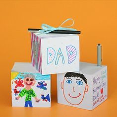 decorate a blank notepad for the loved ones. Fathers Day. Mothers Day.