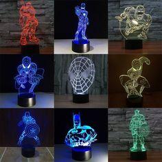 Multiple Stars Wars LED 3D night lights Creative Ambient Light Desk lamp Home Lighting Bulbing Color change Luminaria Kids Gifts. Packing: 1 X 3D visual LED night light 1 X Micro USB 1 X User manual