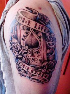 ace of spades tattoo | Poker Tattoo | Pinterest