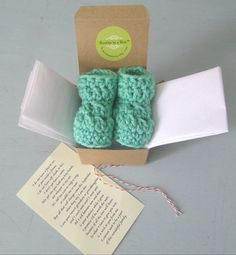 Grandparent Pregnancy Reveal Poem Booties in a by HowCuteAreYou