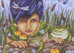 Buy Queen of Frogs Cross Stitch Kit Online at www.sewandso.co.uk