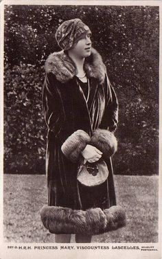 Princess Royal Mary of Britain, Viscountess Lascelles. Princess Mary lived at Goldsborough Hall throughout the 1920s.