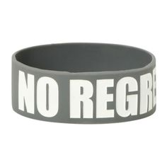 No Regrets Rubber Bracelet | Hot Topic (485 MXN) ❤ liked on Polyvore featuring jewelry, bracelets, rubber jewelry and grey jewelry