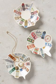 Ceramic Skyline Trinket Dish- gorgeous gift idea for mom or teacher this holiday season! #giftideasforher #ad