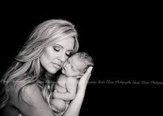 Mother daughter mother's love newborn photography black and white newborn photo Studio Eleven Photography South Texas Wedding and Family Photography