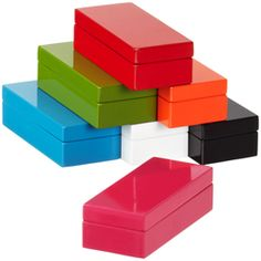 Mini Lacquered Rectangular Box: from container store these are CHEAP! and they look a lot more expensive. A great option if you are on a budget.