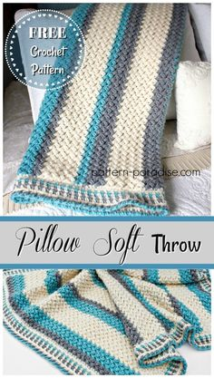 Free Crochet Pattern: Pillow Soft Throw Blanket | Pattern Paradise