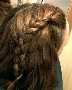 One sided loose braid on wavy hair