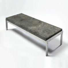 Poul Kjærholm - circa 1968, PK 62 side table with chrome steel legs and Porsgrunn marble top