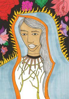 """Consultate il mio progetto @Behance: """"Nuestra Señora de Guadalupe""""…"""