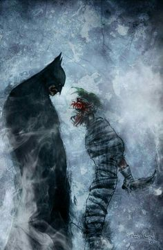 """I saved your life Joker"" ""It doesn't matter! Thank you Batsy, but i'll try to kill you forever and ever! Ha ha!""  #BetterLoveStoryThanTwilight #TheJoker #Batman #Nemesis"