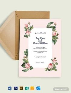 Instantly Download Rosy Fall Wedding Invitation Template, Sample & Example in Microsoft Word (DOC), Adobe Photoshop (PSD), Apple Pages, Microsoft Publisher, Adobe Illustrator (AI) Format. Available in 4X6 Inches,5x7 Inches + Bleed. Quickly Customize. Easily Editable & Printable.