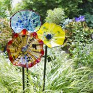 Art Glass Flower - affordable Chihully touch for your garden