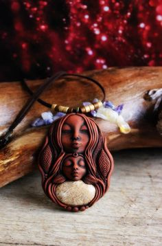 Jasper Warrior Woman and Child Necklace. Protection and Nurture. by TRaewyn on Etsy https://www.etsy.com/listing/238139464/jasper-warrior-woman-and-child-necklace
