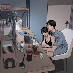 Cute Couple Comics, Cute Couple Art, Anime Love Couple, Couple Cartoon, Cute Couple Drawings, Anime Couples Drawings, Anime Couples Manga, Romantic Anime Couples, Cute Anime Couples