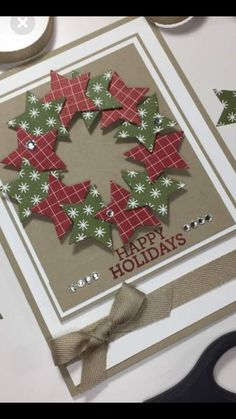 Diy christmas cards 352758583314438422 - Christmas wreath Christmas wreath Source by Simple Christmas Cards, Christmas Card Crafts, Homemade Christmas Cards, Christmas Scrapbook, Christmas Greetings, Homemade Cards, Handmade Christmas, Christmas Wreaths, Christmas Ideas