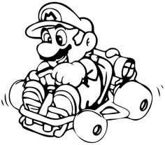 Colouring Pages Cartoon Super Mario Bros Printable For Preschool For Mario Brothers Coloring Pages