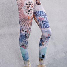 Leggings / flower leggings / Yoga leggings by cooleggingseveryday