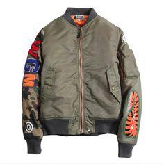 Men-s-fashion-sport-jacket-swag-Bape-shark-Baseball-Wear-military-MA1-Air-Force-flight-suit.jpg (800×800)