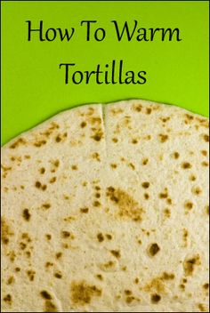 HOW TO WARM TORTILLAS ... 1) Place tortillas over the medium flame of a gas burner until slightly charred, about 30 seconds per side. 2) You can also toast in a dry skillet until softened & speckled with brown spots, 20-30 seconds per side. 3) Wrap a stack of tortillas in aluminum fool and heat in a 350 oven for 5 minutes. 4) Keep warmed tortillas wrapped in foil or a dish towel until ready to use or they will dry out.
