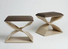 Carol Egan Stools at Maison Gerard #GISSLER #interiordesign